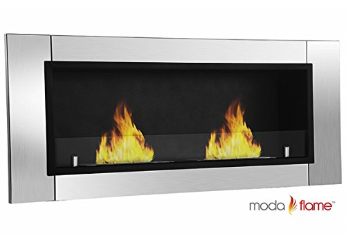 Moda Flame Valencia Wall Mounted Ethanol Fireplace photo