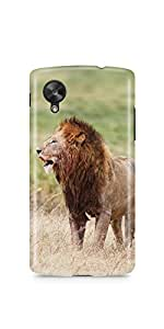 Casenation Lion Watching Glossy Case Cover For Lg Nexus 5