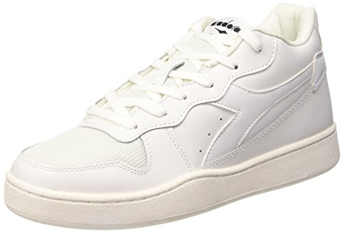 Diadora Magic Color Scarpe Low-Top, Unisex adulto, Bianco (C0657 Bianco/Bianco), 44