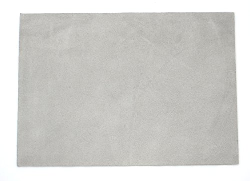 """Premium Quality Suede Sheet 8.5""""X12"""" With Super-Strong Self-Adhesive Backing. Ideal For Making Soles For Dance Shoes. [Suede-Diy-Gray]"""