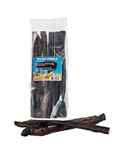 great dog bison pizzle bully sticks 6 12 pieces sourced made in usa pet. Black Bedroom Furniture Sets. Home Design Ideas