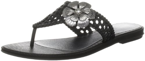 Grendha Women's Donna Black Open Toe Flats 80763