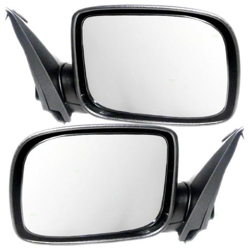 New Pair Set Power Side View Mirror Glass Housing for 02 03 04 Nissan Altima
