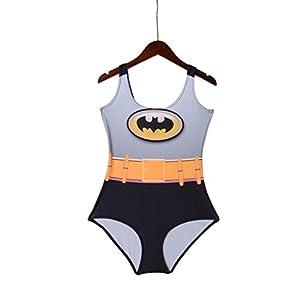 Rujia Batman Digital Print Womens Backless Beach One Piece Swimsuit