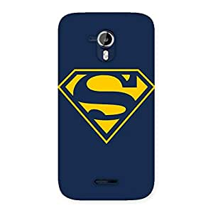 AjayEnterprises AJ Super Yellow Blue Back Case Cover for Micromax Canvas Magnus A117