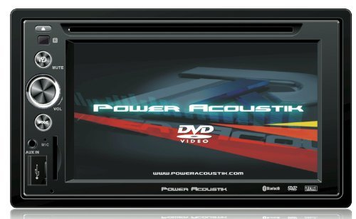 Power Acoustik PTID-6250B In Dash DVD AM-FM Receiver with 7-Inches Flip Out Touchscreen Monitor with USB/SD Input