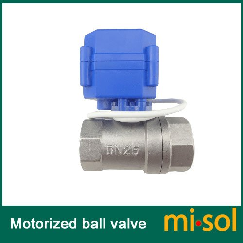 """Misol 1Pcs Of Motorized Ball Valve 1""""(Bsp) Dn25 / 12Vdc / 2 Way / Electrical Valve / Ball Valve With Acuator / Reduce Port / Cr01 / Stainless Steel"""