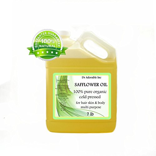 Safflower OIL High Oleic Organic 100% Pure 128oz / 7 Lb / One Gallon