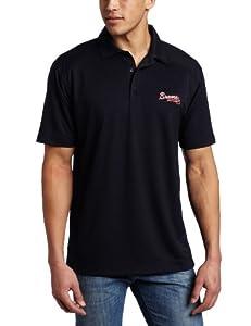 MLB Atlanta Braves Mens Drytec Genre Polo Knit Short Sleeve Top by Cutter & Buck