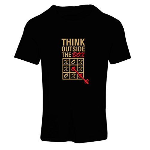 N4096F T-shirt female Thing outside the box -be different, funny , Fruit of the loom (XX-Large Nero Oro)