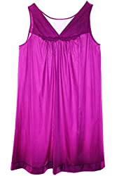 Vanity Fair 30107 Purple Iris Women's Sleeveless Nylon Nightgown