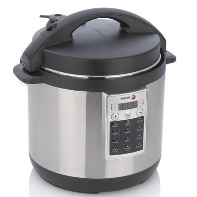 Fagor America 670041930 Premium Electric Pressure and Rice Cooker, 6 quart, Silver