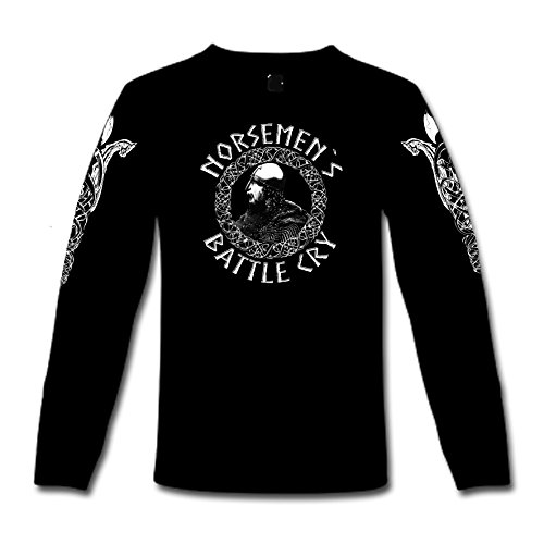 "T-Shirt a maniche lunghe ""Battle Norsemens Cry"" S-XXL nero XL"