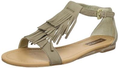 Marc O'Polo Flat Sandal 10841103201, Damen Sandalen, Grau (taupe 717), EU 36