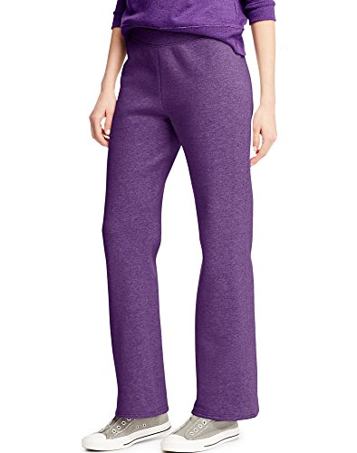 Hanes Women's ComfortBlend Fleece Sweatpants (Medium, Violet Splendor Heather)