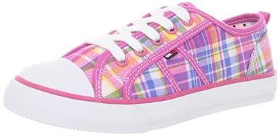 Tommy Hilfiger Kids Girls Plaid Sneaker (Infant/Toddler/Little Kid/Big Kid) Sneaker (Infant/Toddler/Little Kid/Big Kid),Pink Multi,5 M US Big Kid