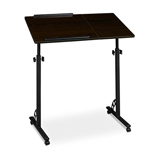 relaxdays-laptop-table-height-adjustable-mobile-podium-with-wheels-lecturn-wood-ebony-black-110-x-80