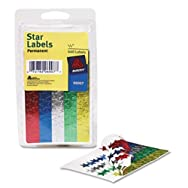 Self-Adhesive Assorted Color Foil Stars, 1/2