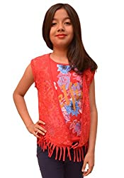 Titrit Red top with net jacket