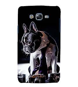 printtech Cute Dog Camera Back Case Cover for Samsung Galaxy E5 / Samsung Galaxy E5 E500F
