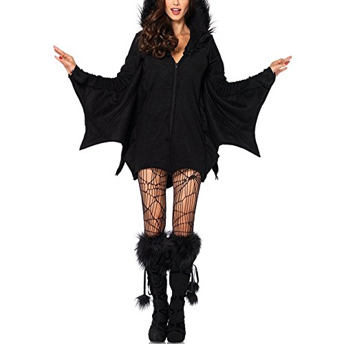Womens Halloween Costume Female Batman Masquerade Cosplay Dress Stage Outfits