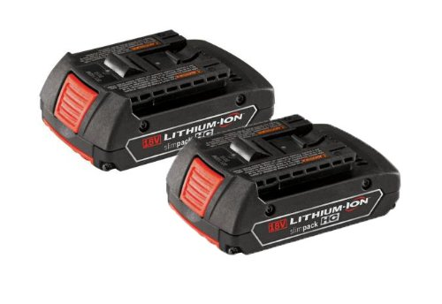 Bosch 18-Volt 1.3-Ah Slim-Pack Battery 2-Pack (BAT610G-2)