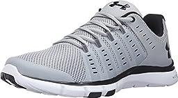 Under Armour Men\'s UA Micro G? Limitless TR 2 Overcast Gray/White/Black Sneaker 11 D (M)