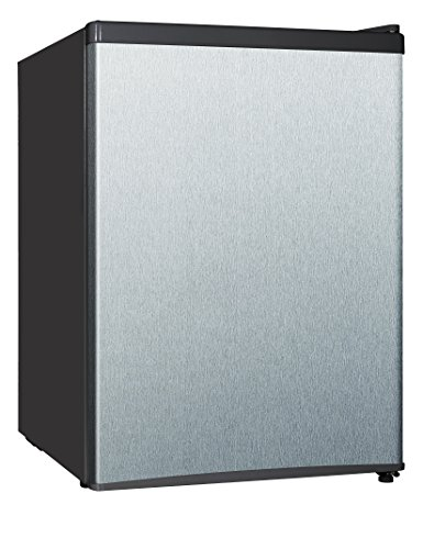 Midea Whs-87Lss1 Single Reversible Door Refrigerator And Freezer, 2.4 Cubic Feet, Stainless Steel