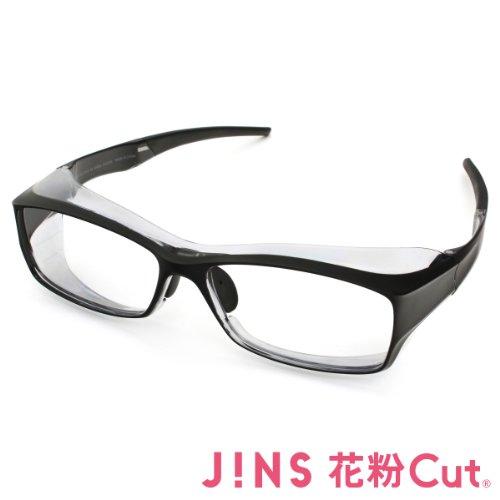 【JINS 花粉Cut(R)】花粉最大98%カット! 異物からスタイリッシュに眼を守るメガネ ビッグシェイプ(度なし)MATT BLACK