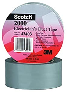 3M Scotch Electricians Duct Tape, 2-Inch by 50-Yard