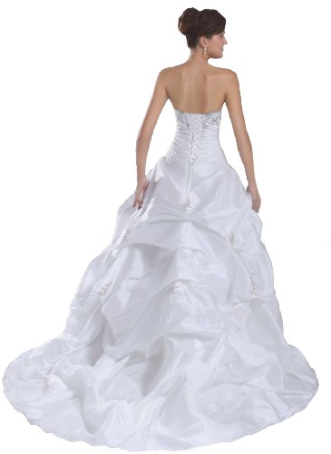Faironly New White Bride Wedding Dress, Size|M