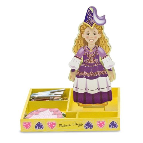 Melissa & Doug Deluxe 24-Piece Princess Elise Magnetic Dress-Up Set