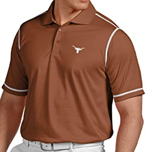 Texas Longhorns Antiqua NCAA Icon Performance Polo Shirt - Burnt Orange by Antigua