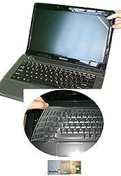 US Layout Keyboard Skin Cover + 15.6\'\' anti glare & scratch & fingerprint Screen Protector for Lenovo ideapad Y700 15\'\', 500 15\'\', 500S 15\'\', 300 15\'\', Z51, FLEX 3 15\'\' (clear)