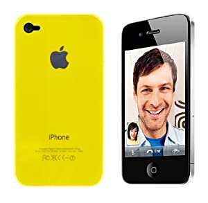 NEW Hard Back Case Cover for Apple iPhone 4 4g -Yellow Part of Youngs Range