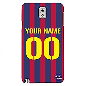 Personalized Your Name Case - Samsung Note 3 Case Cover - Nutcase - Football Jersey - RED & Blue - Personlised Gifts - Customized Mobile Covers