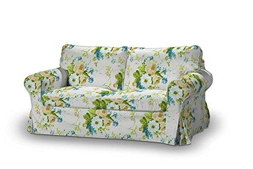 FRANC-TEXTIL 611-141-15 Ektorp 2-Plazas Sofá funda no plegable, sofá funda para 2-plazas Ektorp no plegable, Mirella, azul/beige