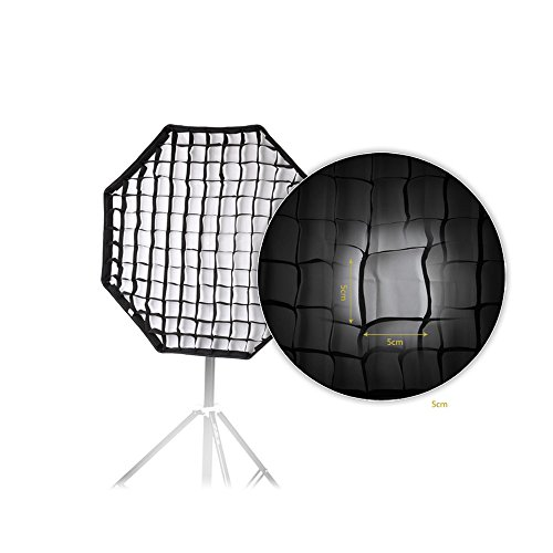 Andoer 80cm / 31.5in Octagon parapluie Softbox Brolly réflecteur avec Honeycomb grille en fibre de carbone Support pour Speedlite Flash Light