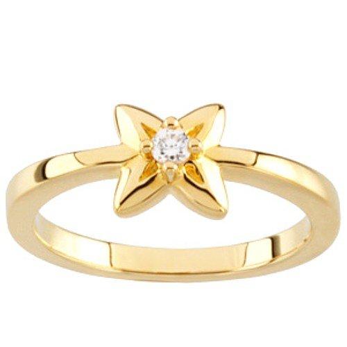 10K Yellow Gold Diamond Promise Ring - 0.05 Ct. - Size 5