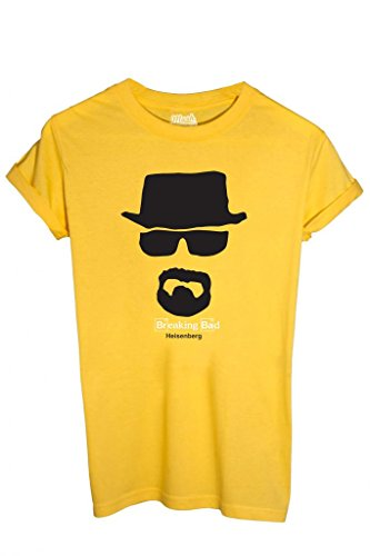 T-SHIRT HEISENBERG BREAKING BAD - SERIE TV by MUSH Dress Your Style - Uomo-L-GIALLA