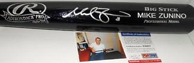 Mike Zunino Seattle Mariners PSA DNA ROOKIE COA Autographed Signed Full Size Black Baseball Bat