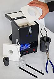 Tabletop QuikMelt Pro Deluxe Metals Melting Furnace with 4 Interchangeable Crucibles -10 oz, 30 oz, 60 oz, 100 oz