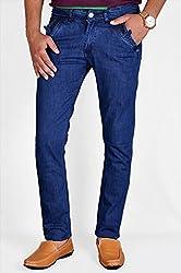 Routeen Mens Denim Jeans (Jkmcotd1269Ib_28 _Blue _28)
