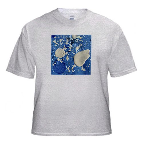 Untitled Abstract Painting by Angelandspot - Youth Birch-Gray-T-Shirt Med(10-12)