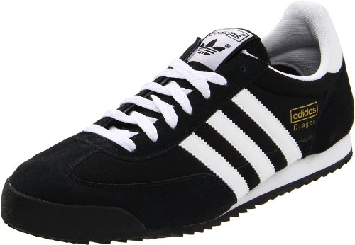 Adidas Originals Men's Dragon Fashion Sneaker,Black/White/Metallic Gold,9.5 M US