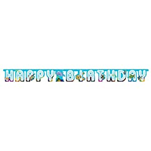 Creative Converting Ocean Happy Birthday Jointed Party Banner by Creative Converting