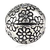 One Quality Genuine Solid Sterling Silver 925 Daisy Clip Bead size diameter 10.6mm - To fit Pandora, Chamilia, Biagi and similar 3mm European Bracelets