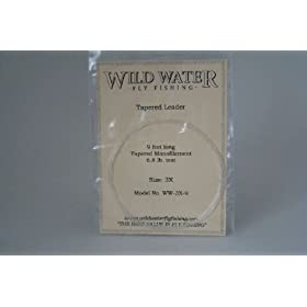 Wild Water Fly Fishing Tapered Leader-3X