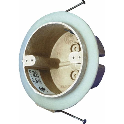 Allied Moulded H9351-NKFRV Vapor Seal Round Outlet Ceiling Box (Ceiling Leak Seal compare prices)