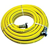 Interstate Pneumatics HJ59-100E 3/4 Inch x 100 ft 200 PSI Jack Hammer Yellow Rubber Hose - IP Brand